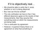 if it is objectively real
