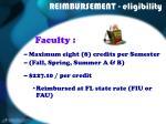 reimbursement eligibility9