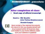 reimbursement procedures13