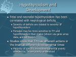 hypothyroidism and development