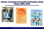 airport screening and health information hong kong sars 2003
