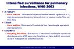 intensified surveillance for pulmonary infections who 2003