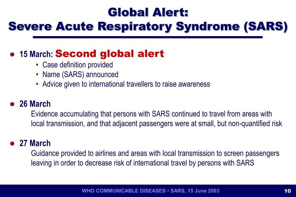 an analysis of severe acute respiratory syndrome also known as sars