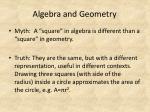 algebra and geometry33