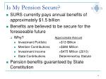 is my pension secure