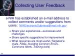 collecting user feedback