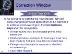 correction window