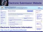 electronic submission website