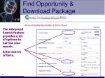 find opportunity download package10