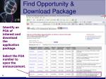 find opportunity download package11