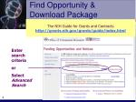 find opportunity download package9