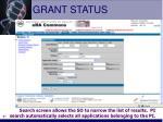grant status
