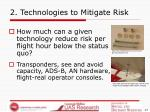 2 technologies to mitigate risk
