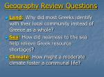 geography review questions