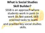 what is social studies skill builder