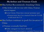 mcarthur and truman clash