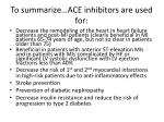 to summarize ace inhibitors are used for22