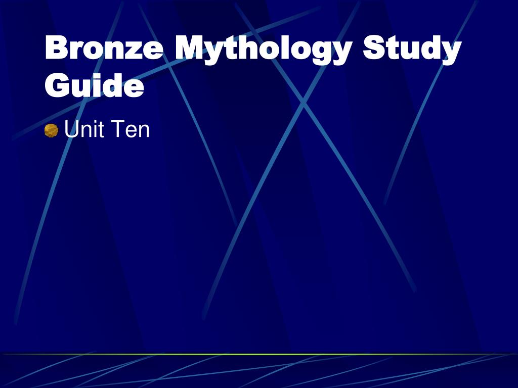 bronze mythology study guide l.