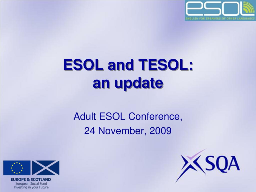 esol and tesol an update l.