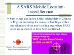 a sars mobile location based service41