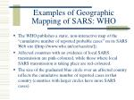 examples of geographic mapping of sars who