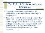 the role of geoinformatics in epidemics10