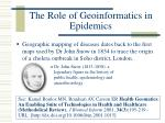 the role of geoinformatics in epidemics8