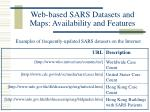 web based sars datasets and maps availability and features13