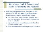 web based sars datasets and maps availability and features14