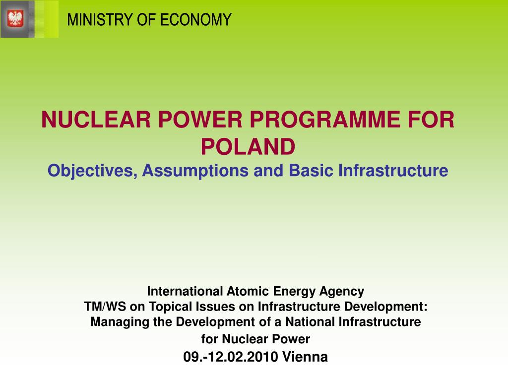 nuclear power programme for poland objectives assumptions and basic infrastructure l.