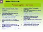 preparatory phase key issues