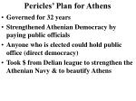 pericles plan for athens