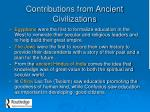 contributions from ancient civilizations