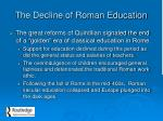 the decline of roman education