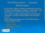 the reformation counter reformation