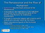 the renaissance and the rise of humanism