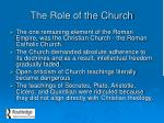 the role of the church