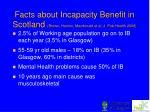 facts about incapacity benefit in scotland brown hanlon macdonald et al j pub health 2008