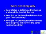 work and inequality