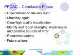ppdac conclusion phase