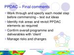 ppdac final comments