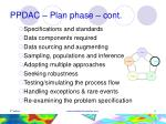ppdac plan phase cont