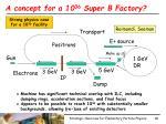 a concept for a 10 36 super b factory
