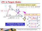 cpv in penguin modes