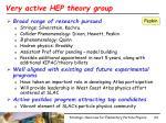 very active hep theory group