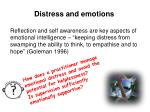 distress and emotions
