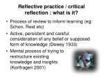 reflective practice critical reflection what is it