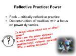 reflective practice power