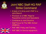 joint nbc staff hq raf strike command