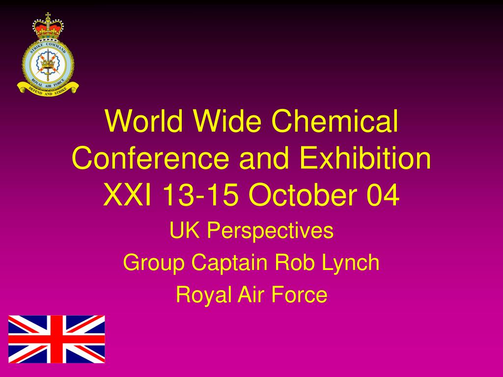 world wide chemical conference and exhibition xxi 13 15 october 04 l.